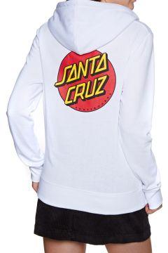 Pullover à Capuche Femme Santa Cruz Classic Dot - White(116489916)