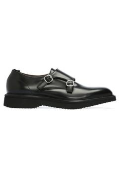 Green George Erkek Siyah Çift Kemerli Deri Ayakkabı 0 UK(108515993)