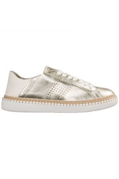 Women's shoes leather trainers sneakers h327(77309836)