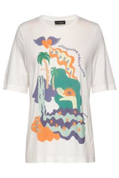 Leonie, 840 Placement Tee T-Shirt Top Weiß STINE GOYA(116950819)