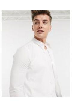 New Look - Camicia Oxford a maniche lunghe attillata bianca-Bianco(120261909)