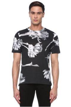 Paul Smith Erkek Siyah Beyaz Çiçek Desenli Basic T-shirt S EU(117578391)