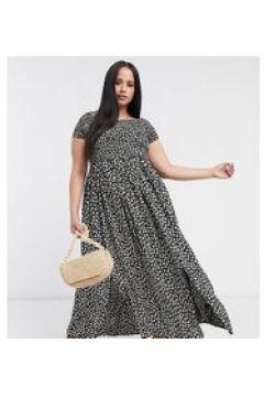 Yours - Vestito lungo stile Bardot nero a fiori(120333415)