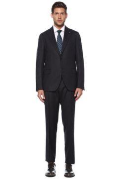 Lardini Erkek Lacivert Çizgi Desenli Yün Takım Elbise 52 IT(119785593)