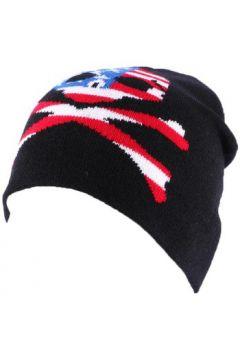 Bonnet Divers Bonnet Biker Noir avec tête de mort façon US(115455409)
