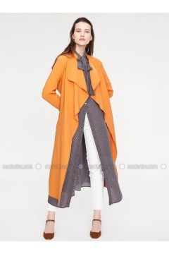 Orange - Unlined - Trench Coat - Minimal Moda(110331159)