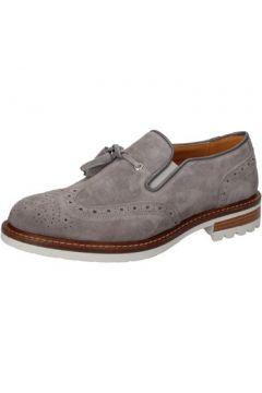 Chaussures J Breitlin mocassins gris daim AB662(115393852)