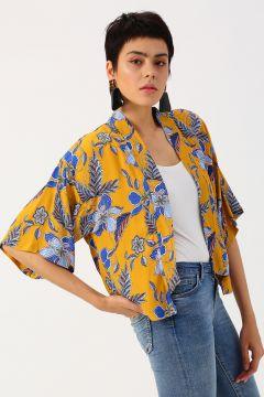 Koton Çiçek Desenli Sarı Ceket(117652996)