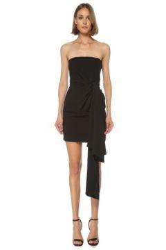 6Arlington Kadın Siyah Straplez Drapeli Mini Kokteyl Elbise 0 US(121969925)