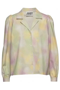 Nikki Shirt Bluse Langärmlig Bunt/gemustert JUST FEMALE(114155351)