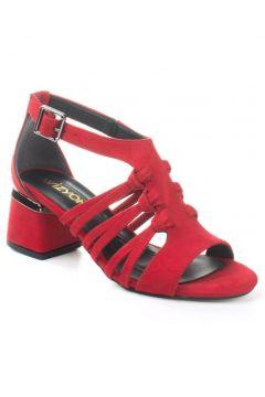 Wizyon Kadın Navy Topuklu Ayakkabı Süet Örgü Detaylı Arkası Kapalı(116843646)