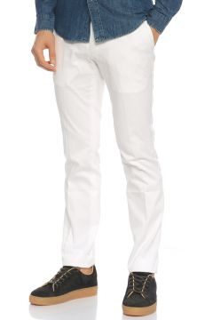 Ralph Lauren Blue Label-Ralph Lauren Blue Label Slim Fit Beyaz Pantolon(115708174)