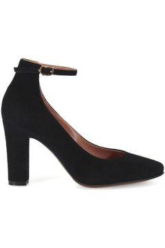 Chaussures escarpins L\'autre Chose Escarpins En Daim Noir Mary Jane(101554021)