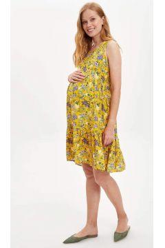 DeFacto Kadın Regular Fit Çiçiek Desenli Hamile Elbise(119064711)