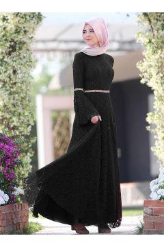 Robe De Soirée Modeste Nurkombin Ecru / Noir(127844703)