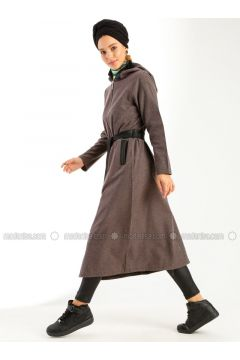 Brown - Unlined - Topcoat - Meys(110320220)