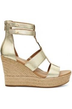 UGG Kolfax Sandales Compensées pour Femmes en Gold, taille 40.5 | Cuir(112239888)
