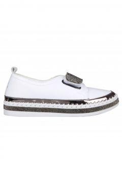 Guja 20y311-3 Dolgu Topuk Beyaz Kadın Sneakers(114214812)
