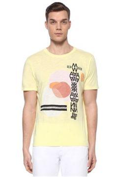 Isabel Marant Erkek Ibiza Sarı Karışık Baskılı Basic T-shirt L EU(109265324)