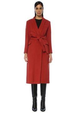 Beymen Club Kadın Kiremit Beli Kuşaklı Klasik Yün Palto Kırmızı 36(109109703)