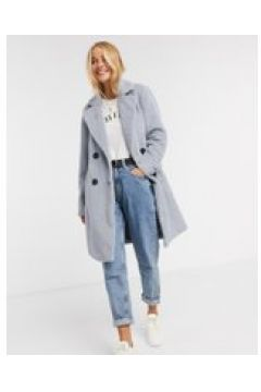 New Look - Cappotto lungo soffice blu(120791604)