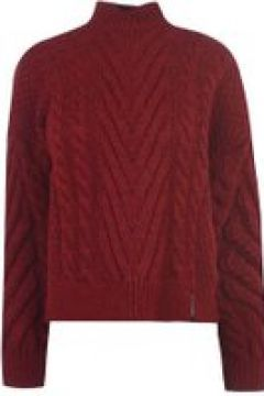 Superdry Dallas Cable Knit Jumper - Rio Red(107966763)