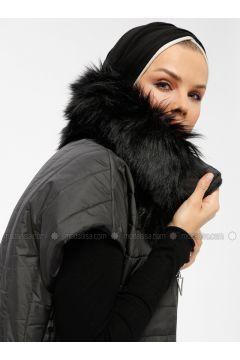 Black - Fully Lined - Polo neck - Vest - Miorespiro(110335497)