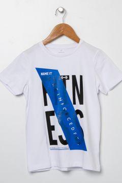 Name İt Erkek Çocuk Baskılı Beyaz T-Shirt(113980850)