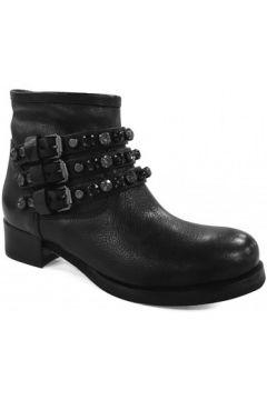 Bottines Mimmu Boots Plate Noir(127848604)