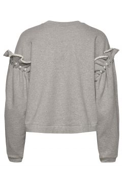 Dani Cropped Jumper With Pearl Shoulder Strickpullover Grau MOTHER OF PEARL(118611814)