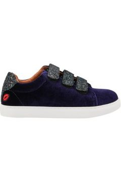 Chaussures Bons Baisers De Paname Edith Velours Glitter Aubergine(115632376)
