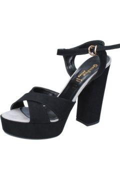 Sandales Geneve Shoes sandales noir daim BZ896(115399069)