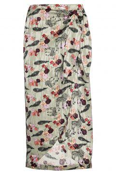 Skirt W. Wrap Around Look In Walkin Knielanges Kleid Bunt/gemustert COSTER COPENHAGEN(108838936)