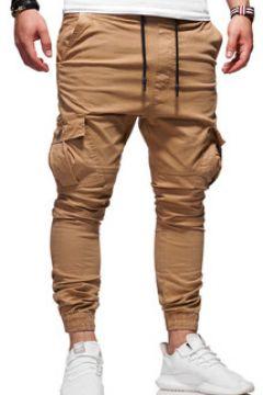 Pantalon Kc 1981 Jogger chino treillis Pantalon 3292 marron(115433601)