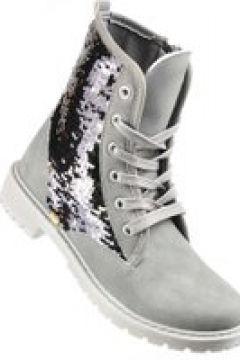 Pantofelek24.pl | Modne buty trapery z błyszczącą wstawką(112083065)