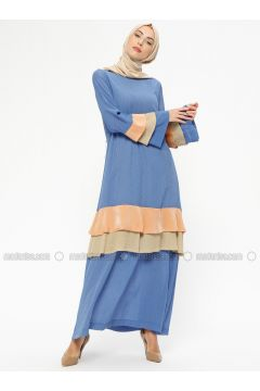 Blue - Crew neck - Fully Lined - Dresses - MARKESRA(110314793)