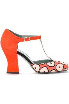 Chaussures escarpins Paola D\'arcano Décolleté modèle Tabata en tissu fantaisie et corail(101538322)