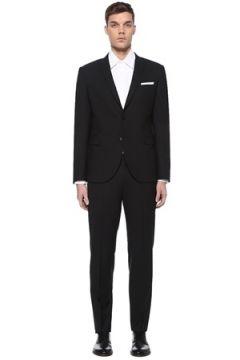 Neil Barrett Erkek Slim Fit Siyah Kırlangıç Yaka Takım Elbise 50 IT(109265262)