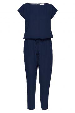 Crepe Georgette Cavi Jumpsuit Blau MADS NØRGAARD(109013556)
