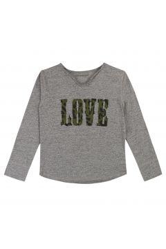T-Shirt mit Henley-Kragen(114142221)
