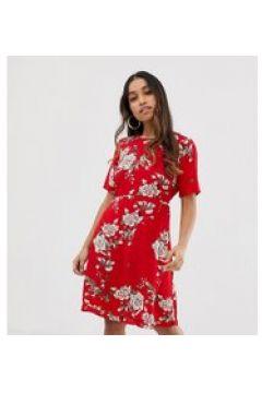 Y.A.S Petite - Angelia - Vestito con stampa a fiori-Rosso(120330608)