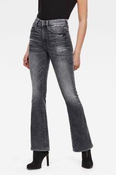 G-Star RAW Women 3301 High Flare Jeans Black(117926407)