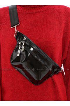 Black - Clutch - Bum Bag - MOON(110332618)