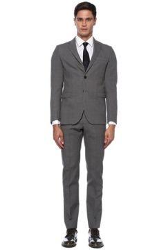 Beymen Club Erkek Drop 6 Gri Kare Dokulu Yün Takım Elbise 50 EU(120885248)