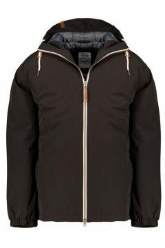 Brigg: Leichte Outdoor-Jacke mit Kapuze, wind- undwasserdicht, 6XL, Schwarz(123057971)