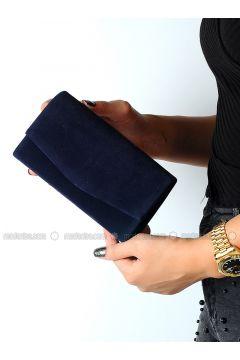 Navy Blue - Clutch Bags / Handbags - WMİLANO(110313416)