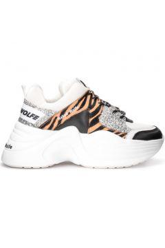 Chaussures Naked Wolfe Baskets Track en peau de cheval et paillettes argentées(101641224)