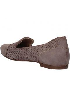 Chaussures Carmens Padova mocassins gris cuir suédé AF39(115393360)