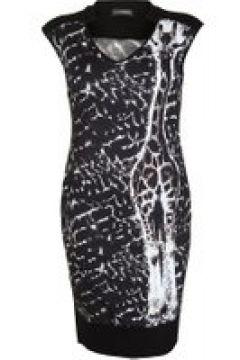 Jerseykleid mit Giraffen-Print Doris Streich Bast(111504084)