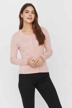 VERO MODA Klassische Strickjacke Damen Pink(110706506)